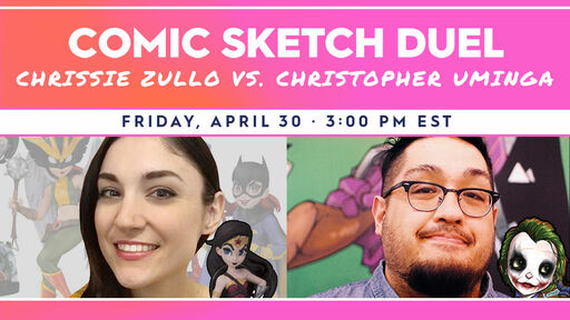 Image for Comic Sketch Duel: Chrissie Zullo vs Christopher Uminga
