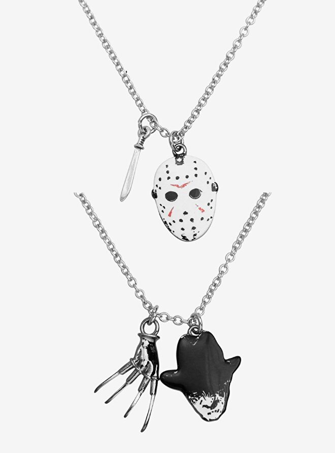 Freddy vs. Jason Icon Best Friend Necklace Set
