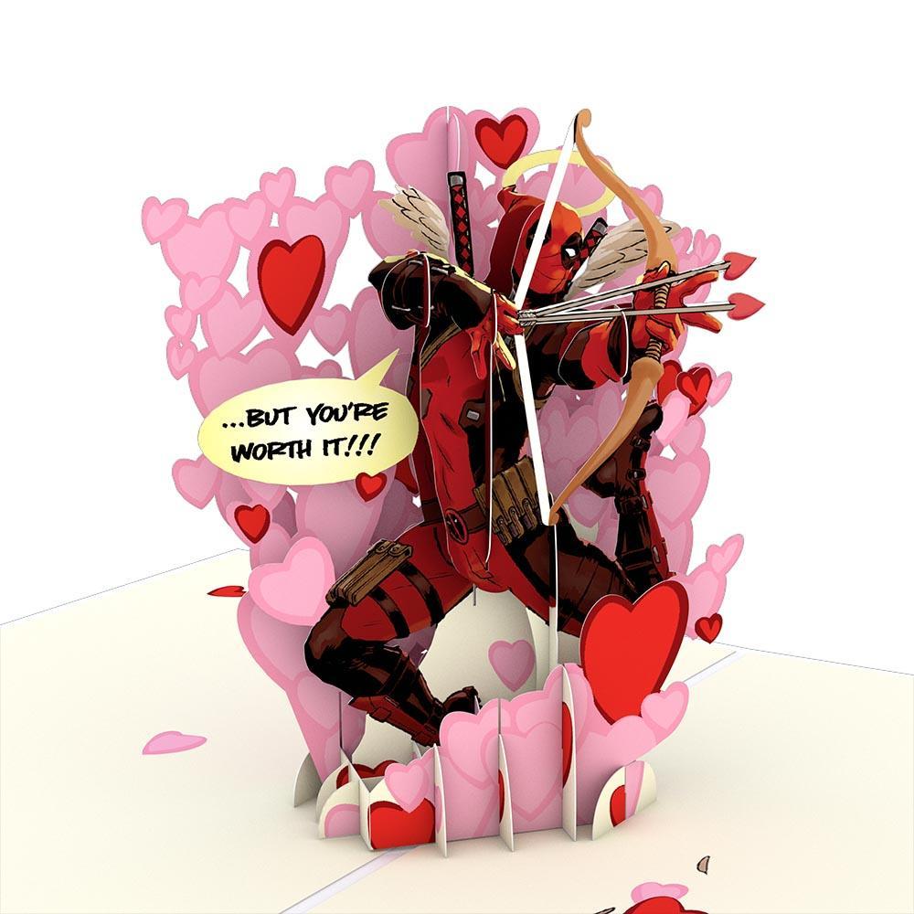 Deadpool Love Hurts 3d Card