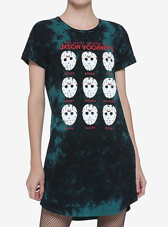 Jason Voorhees Tie-Dye T-Shirt Dress